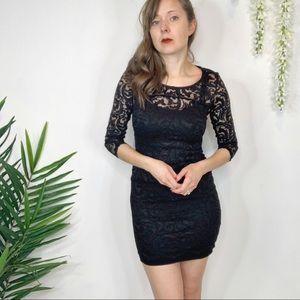 Velvet by Graham & Spencer Dresses - VELVET by GRAHAM & SPENCER black lace dress 1034